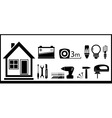 set tools for home work vector image vector image
