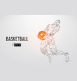 silhouette of a basketball player vector image vector image