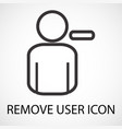 simple remove user icon vector image vector image