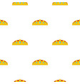 small crown pattern flat vector image vector image