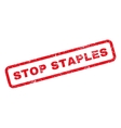Stop Staples Rubber Stamp vector image
