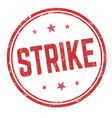 strike sign or stamp vector image