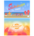 summer mood hello summertime 2018 bright posters vector image vector image