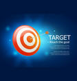 target business aim background vector image vector image