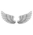 tattoo style wings vector image vector image