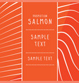 texture of red fish salmon bac vector image vector image