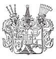 the great seal of schleswig-holstein is a german vector image vector image
