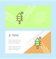 tree abstract corporate business banner template vector image