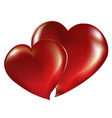 Two lovers heart vector image vector image