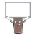 up board ice chocolate character cartoon vector image vector image