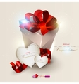 valentines gifts background vector image vector image