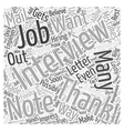 Ways to Impress Hiring Employers After the vector image vector image