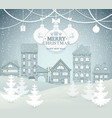 winter city landscape vector image vector image