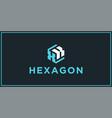 xk hexagon logo design inspiration vector image vector image