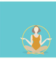 young woman sitting with hula hoop vector image vector image