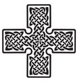 celtic pagan cross vector image