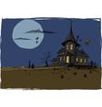 Scarry Halloween House vector image