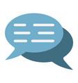 speech bubbles flat icon seo and development vector image