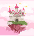 fairytale castle with big towers in the sky vector image