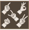five hands stamp vector image