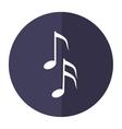 musical note melody symbol shadow vector image