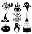 2 Halloween icons set vector image vector image