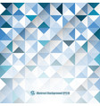 abstract blue background with triangles and lines vector image