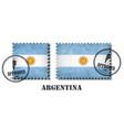 argentina or argentinian flag pattern postage vector image