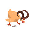 aries zodiac sign funny chick character vector image
