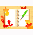 Autumn notepad vector image