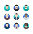 avatar profiles minimalistic icons anonymous vector image vector image