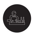 bartender making cocktail black concept vector image