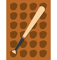 baseball bat leather glove vector image vector image