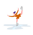 beautiful girl on ice skating elegant art athlete vector image vector image