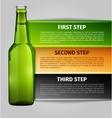 Beer infographics vector image vector image