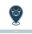 bitcoin mining pool pin map icon vector image vector image