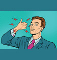 businessman like hand gesture vector image