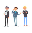 businessman talking on phone business partners vector image vector image