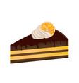cake piece vector image vector image