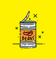 canned baked beans icon vector image vector image