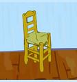 chair in van gogh style vector image vector image