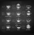Chalk drawn sketches collection of coffee recipes