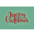Christmas card with handlettering vector image vector image