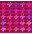 Clover flower pattern vector image vector image