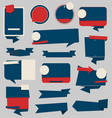 collection badge and labels blue and red 03 vector image vector image
