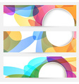 Collection of bright abstract design cards vector image vector image