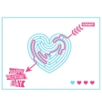 Concept of Happy Valentines Day greeting or vector image vector image
