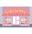 Confectionary Storefront with cakes Pieces of cake vector image