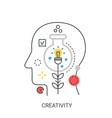 creativity concept vector image vector image