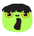 cute halloween cartoon zombie avatar vector image vector image